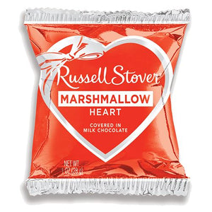 All City Candy Russell Stover Milk Chocolate Covered Marshmallow Heart 1-oz. Valentine's Day Russell Stover For fresh candy and great service, visit www.allcitycandy.com