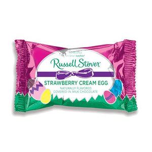 All City Candy Russell Stover Milk Chocolate Covered Strawberry Cream Egg 1 oz. Easter Russell Stover For fresh candy and great service, visit www.allcitycandy.com