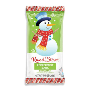 All City Candy Russell Stover Peppermint Bark Snowman .875 oz. Christmas Russell Stover 1 Piece For fresh candy and great service, visit www.allcitycandy.com