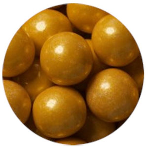 All City Candy Shimmer Gold 1-Inch Gumballs - 2 LB Bulk Bag Bulk Unwrapped SweetWorks Default Title For fresh candy and great service, visit www.allcitycandy.com