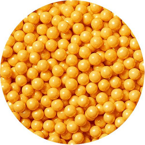 All City Candy Shimmer Gold Pearls Pressed Candy - 2 LB Bulk Bag Bulk Unwrapped SweetWorks For fresh candy and great service, visit www.allcitycandy.com