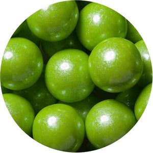 All City Candy Shimmer Lime Green 1-Inch Gumballs - 2 LB Bulk Bag Bulk Unwrapped SweetWorks Default Title For fresh candy and great service, visit www.allcitycandy.com