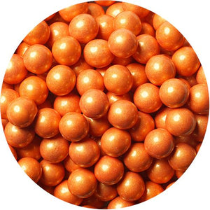 All City Candy Shimmer Orange Sixlets Chocolate Candy - 2 LB Bulk Bag Bulk Unwrapped SweetWorks Default Title For fresh candy and great service, visit www.allcitycandy.com
