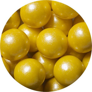 All City Candy Shimmer Yellow 1-Inch Gumballs - 2 LB Bulk Bag Bulk Unwrapped SweetWorks Default Title For fresh candy and great service, visit www.allcitycandy.com