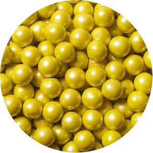All City Candy Shimmer Yellow Sixlets Chocolate Candies - 2 LB Bulk Bag Bulk Unwrapped SweetWorks Default Title For fresh candy and great service, visit www.allcitycandy.com