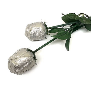 All City Candy Silver Foiled Belgian Chocolate Color Splash Roses Chocolate Albert's Candy 1 Piece For fresh candy and great service, visit www.allcitycandy.com