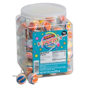 All City Candy Smarties Giant Pops Lollipops - Tub of 72 Smarties Candy Company Default Title For fresh candy and great service, visit www.allcitycandy.com