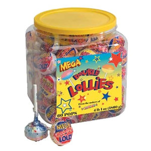 All City Candy Smarties Mega Lollies Lollipops - Tub of 60 Smarties Candy Company Default Title For fresh candy and great service, visit www.allcitycandy.com