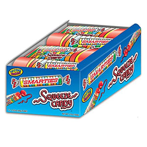 All City Candy Smarties Squeeze Candy - 2.25 oz. Tube Novelty Ford Gum & Machine Company Case of 12 For fresh candy and great service, visit www.allcitycandy.com