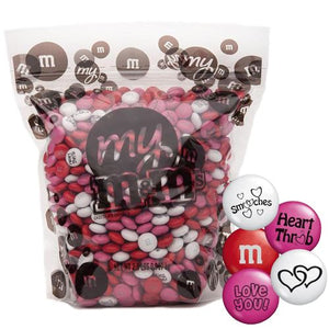 All City Candy Smooches Blend M&M's Chocolate Candy - 2 LB Bulk Bag Bulk Unwrapped Mars Chocolate For fresh candy and great service, visit www.allcitycandy.com