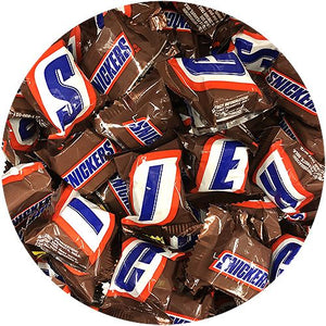 All City Candy Snickers Mini Candy Bars - 3 LB Bulk Bag Bulk Wrapped Mars Chocolate For fresh candy and great service, visit www.allcitycandy.com