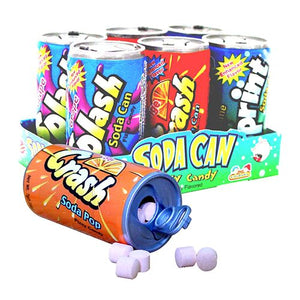 All City Candy Soda Can Fizzy Candy 6-Pack 1.48 oz. Novelty Kidsmania 1 Pack For fresh candy and great service, visit www.allcitycandy.com
