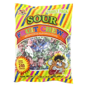 All City Candy Sour Fruit Chews - Bag of 240 Bulk Wrapped Albert's Candy Default Title For fresh candy and great service, visit www.allcitycandy.com