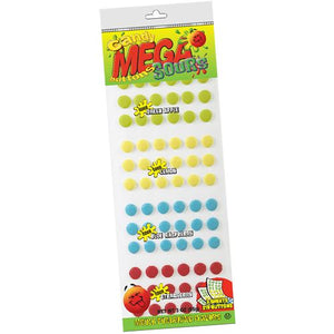 All City Candy Sour Mega Candy Buttons Novelty Stichler Products Case of 24 3-oz. Packs For fresh candy and great service, visit www.allcitycandy.com
