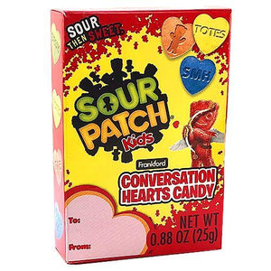 Sour Patch Kids Conversation Hearts Candy - .88-oz. Box 4 Pack