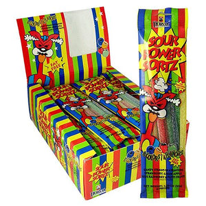 All City Candy Sour Power Sortz Assorted Flavor Candy Straws 1.75 oz. Sour Dorval Trading Case of 24 For fresh candy and great service, visit www.allcitycandy.com