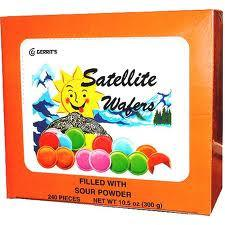 All City Candy Sour Satellite Wafers Candy - 240 PC Box Novelty Gerrit J. Verburg Candy For fresh candy and great service, visit www.allcitycandy.com