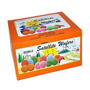 All City Candy Sour Satellite Wafers Candy - 240 PC Box Novelty Gerrit J. Verburg Candy Default Title For fresh candy and great service, visit www.allcitycandy.com