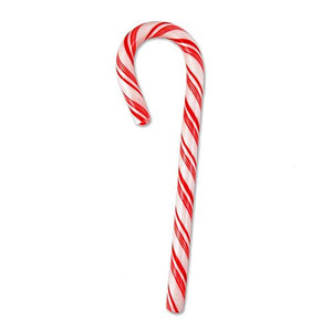 All City Candy Spangler Red & White Peppermint Candy Canes 1 oz. Christmas Spangler 1 Piece For fresh candy and great service, visit www.allcitycandy.com