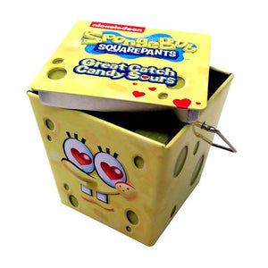 All City Candy SpongeBob SquarePants Great Catch Heart Sours Candy - 1.5-oz. Tin Novelty Boston America 1 Tin For fresh candy and great service, visit www.allcitycandy.com