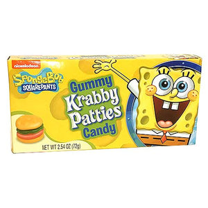 All City Candy SpongeBob SquarePants Gummy Krabby Patties Candy - 2.54-oz. Theater Box Theater Boxes Frankford Candy For fresh candy and great service, visit www.allcitycandy.com