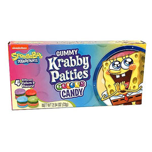 All City Candy SpongeBob SquarePants Gummy Krabby Patties Colors Candy - 2.54-oz. Theater Box Theater Boxes Frankford Candy For fresh candy and great service, visit www.allcitycandy.com