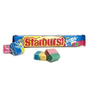 All City Candy Starburst Duos Fruit Chews - 2.07-oz. Bar Chewy Wrigley 1 Bag For fresh candy and great service, visit www.allcitycandy.com