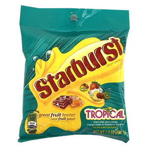 All City Candy Starburst Tropical Fruit Chews - 7.2-oz. Bag Chewy Wrigley For fresh candy and great service, visit www.allcitycandy.com