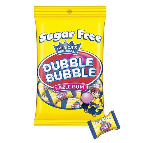 Sugar Free Dubble Bubble Bubble Gum - 3.25-oz. Bag For fresh candy and great service, visit us at www.allcitycandy.com