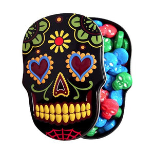 All City Candy Sugar Skulls Sweet Candy Skulls - 1.3-oz. Tin Novelty Boston America 1 Tin For fresh candy and great service, visit www.allcitycandy.com