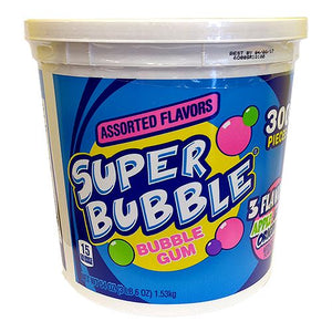All City Candy Super Bubble Bubble Gum 3 Flavor - 300 Count Tub Gum/Bubble Gum Ferrara Candy Company For fresh candy and great service, visit www.allcitycandy.com