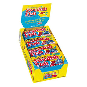 All City Candy Swedish Fish Soft & Chewy Candy - 2-oz. Bag Gummi Mondelez International Case of 24 For fresh candy and great service, visit www.allcitycandy.com