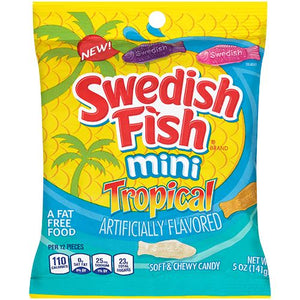 All City Candy Swedish Fish Tropical Soft & Chewy Candy - 5-oz. Bag Chewy Mondelez International For fresh candy and great service, visit www.allcitycandy.com