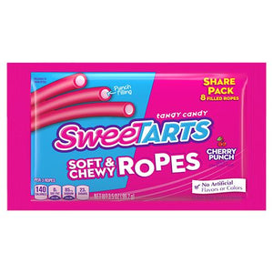 All City Candy SweeTARTS Soft & Chewy Ropes Cherry Punch Candy - 3.5-oz. Share Pack Chewy Nestle 1 Pack For fresh candy and great service, visit www.allcitycandy.com