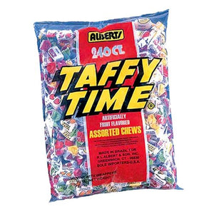 All City Candy Taffy Time Assorted Chews Candy - 240 Piece Bag Chewy Albert's Candy Default Title For fresh candy and great service, visit www.allcitycandy.com