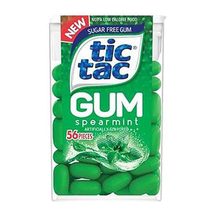 All City Candy Tic Tac Sugar Free Gum Spearmint - .95-oz. Pack Gum/Bubble Gum Ferrero 1 Pack For fresh candy and great service, visit www.allcitycandy.com