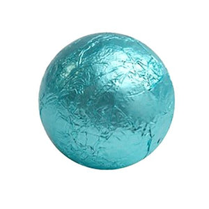 All City Candy Tiffany Blue Foiled Solid Milk Chocolate Balls - 2 LB Bulk Bag Bulk Wrapped SweetWorks For fresh candy and great service, visit www.allcitycandy.com