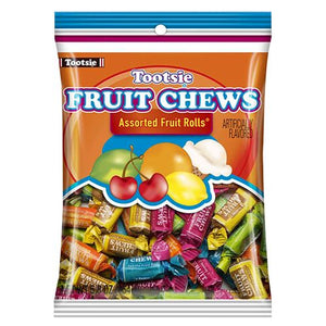 All City Candy Tootsie Fruit Chews Assorted Fruit Rolls - 5.8-oz. Bag Chewy Tootsie Roll Industries For fresh candy and great service, visit www.allcitycandy.com