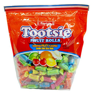 All City Candy Tootsie Fruit Rolls Assorted Fruity Flavored Candy - 37-oz. Resealable Bag Chewy Tootsie Roll Industries Default Title For fresh candy and great service, visit www.allcitycandy.com