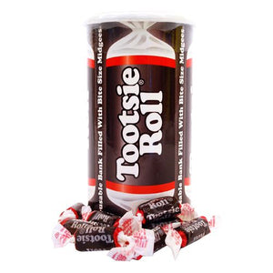 All City Candy Tootsie Roll Midgees Bank 4 oz. Novelty Tootsie Roll Industries Case of 24 For fresh candy and great service, visit www.allcitycandy.com
