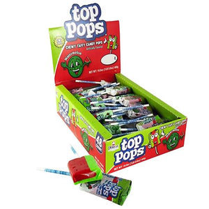 All City Candy Top Pops Watermelon Taffy Pops - Case of 48 Lollipops & Suckers Dorval Trading For fresh candy and great service, visit www.allcitycandy.com