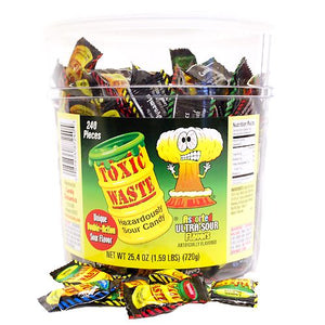 All City Candy Toxic Waste Sour Candy - 240 Piece Tub Sour Candy Dynamics For fresh candy and great service, visit www.allcitycandy.com