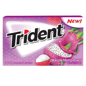 All City Candy Trident Dragon Fruit Lychee Sugar Free Gum - 14 Stick Pack Gum/Bubble Gum Mondelez International For fresh candy and great service, visit www.allcitycandy.com
