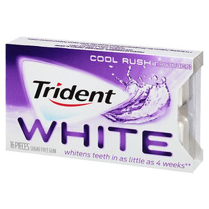 All City Candy Trident White Cool Rush Sugar Free Gum - 16-piece Blister Pack Gum/Bubble Gum Mondelez International 1 Pack For fresh candy and great service, visit www.allcitycandy.com