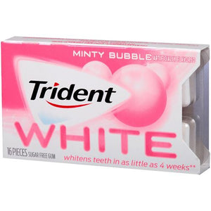 All City Candy Trident White Minty Bubble Sugar Free Gum - 16-piece Blister Pack Gum/Bubble Gum Mondelez International 1 Pack For fresh candy and great service, visit www.allcitycandy.com