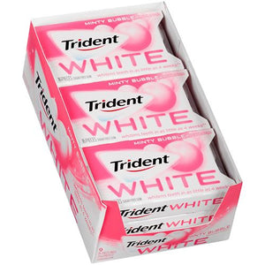 All City Candy Trident White Minty Bubble Sugar Free Gum - 16-piece Blister Pack Gum/Bubble Gum Mondelez International Case of 9 For fresh candy and great service, visit www.allcitycandy.com