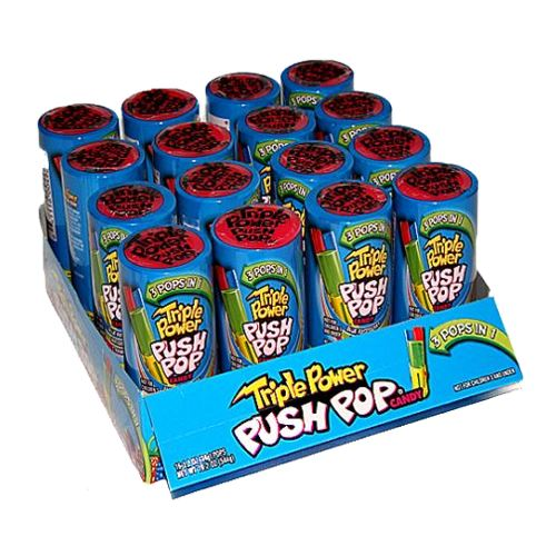 Triple Power Push Pop 1.2 oz. For fresh candy and great service, visit us at www.allcitycandy.com