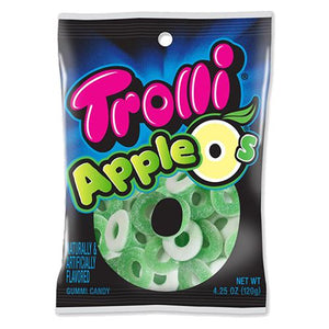 All City Candy Trolli Apple O's Gummi Candy - 4.25-oz. Bag Gummi Trolli (Ferrara) Default Title For fresh candy and great service, visit www.allcitycandy.com