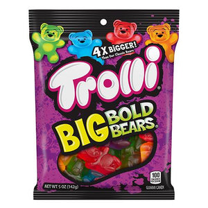All City Candy Trolli Big Bold Bears Gummi Candy - 5-oz. Bag Gummi Trolli (Ferrara) For fresh candy and great service, visit www.allcitycandy.com