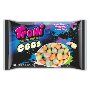 All City Candy Trolli Sour Brite Eggs Gummi Candy Gummi Trolli (Ferrara) 2.5-oz. Bag For fresh candy and great service, visit www.allcitycandy.com